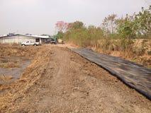 Biogas bedeckte Lagune Stockfotos
