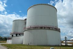 Biogas containers Stock Photo