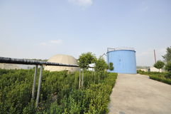 Biogas engineering plant Stock Image