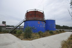 Biogas engineering plant Stock Photos