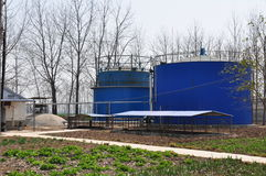 Biogas engineering plant Stock Images