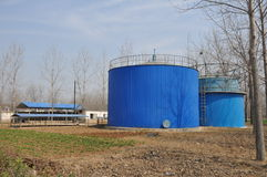 Biogas engineering plant Stock Photo