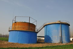 Biogas engineering plant Royalty Free Stock Photo