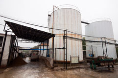 Biogas engineering plant Stock Photography