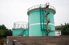 Biogas engineering plant Royalty Free Stock Photo