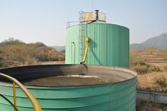 Biogas engineering plant 2 Royalty Free Stock Image