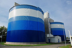 Biogas facility. Fermentation container in biogas facility Stock Photos