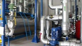 Biogas generator sludge stock footage
