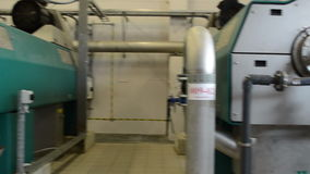 Biogas generator sludge. Big biogas generator in water treatment facilities plant. Gas process from sludge stock footage
