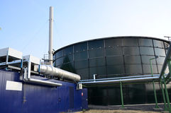 The biogas green energy Royalty Free Stock Photos
