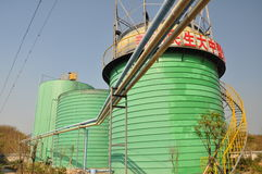 Biogas inżynierii roślina Fotografia Stock