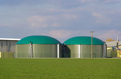 Biogas plant 04 Stock Photos