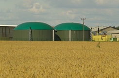 Biogas plant 10. New biogas plant, Anaerobic digestion Royalty Free Stock Image