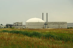 Biogas plant 12. Biogas plant - Anaerobic digestion, regeneretive energy royalty free stock photo