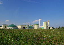Biogas plant. Modern biomass plant , green environmental industry stock images