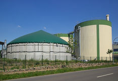 Biogas plant 15. A modern biogas plant (Anaerobic digestion) - Renewable energy stock images