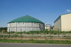 Biogas plant 18. A modern biogas plant (Anaerobic digestion) - Renewable energy Royalty Free Stock Image