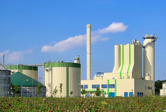 Biogas plant. Modern biogas plant, renewable energy stock photos