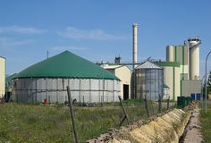 Biogas plant 19. Biogas plant , Anaerobic digestion, alternative energy stock photos