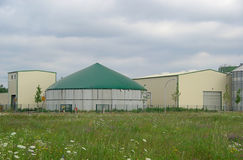 Biogas plant 26. Modern biogas plant Anaerobic digestion Royalty Free Stock Image