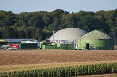 Biogas plant. View over a biogas plant Stock Photography