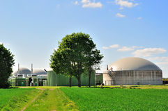 Biogas plant. View over a biogas plant Stock Image