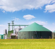 Biogas plant. Environmentally friendly energy production Royalty Free Stock Photos