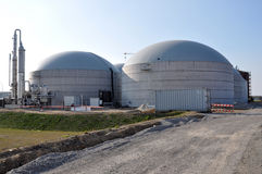 Biogas plant for energy Royalty Free Stock Photo