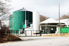 Biogas plant for energy generation Stock Photography