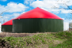Biogas plant for energy generation Royalty Free Stock Photo