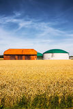 Biogas plant on a farm Stock Images