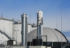 Biogas plant. Modern biogas plant in Holland, using sugar beet pulp as a renewable form of energy production Royalty Free Stock Photo