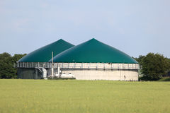 Biogas plant. Modern biogas plant for renewable energy stock images
