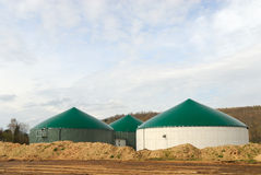 Biogas power plant. Modern biogas power plant for clean energy royalty free stock photography