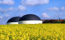 Biogas production Stock Images