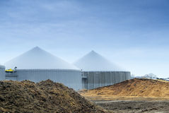 Biogas roślina Obraz Royalty Free