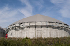 Biogas tank. Royalty Free Stock Images