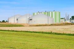 Biogasanlage stockbild
