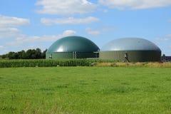 Biogasanlage, erneuerbare Ressourcen für erneuerbare Energie stockfoto