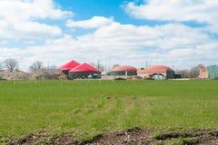 Biogasanlage für Energiegewinnung Lizenzfreies Stockfoto
