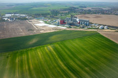 Biogasfabriek Royalty-vrije Stock Foto's
