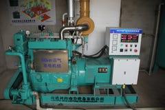 Biogasgenerator Royaltyfria Foton