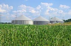 Biogasinstallatie Royalty-vrije Stock Afbeeldingen