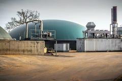 Biogasinstallatie Stock Afbeeldingen