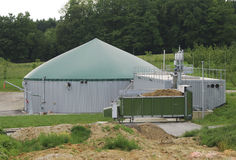 biogasproduktion Royaltyfria Foton