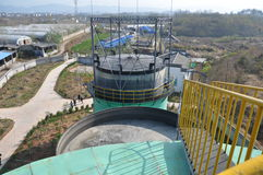 Biogasteknikväxt 5 Royaltyfri Fotografi