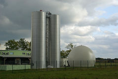Biogasväxt 23 Arkivfoton