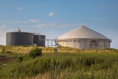 Biogasväxt i Tyskland Royaltyfri Bild