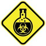 Biogevaarwaarschuwingsbord Stock Afbeeldingen