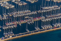 Biograd Jachthafenantenne lizenzfreie stockfotografie